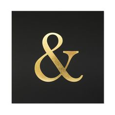Sugar Paper Gold & Black Ampersand Letterpress Art Print | Smitten for the Wee Generation