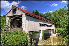 Mechanicsville Road Covered Bridge by Corey Balazowich
