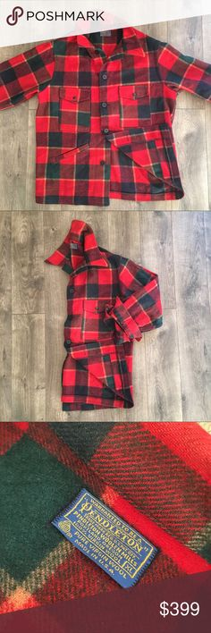 12da0f48246a7 Vintage Pendleton Mackinaw Cruiser Wool Plaid Coat PRICE IS FIRM - OFFERS  NOT ACCEPTED Vintage Pendleton