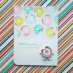 """I used the """"Sweet Friends"""" stamp set from """"Lawn Fawn"""" for this love card."""