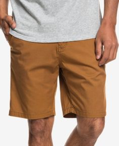 24bb69b27c Quiksilver Men's Minor Classic-Fit Twill Chino Shorts - Brown 29 Chino  Shorts, Bermuda