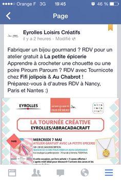 Une tournée créative ça vous dit ? :) Plus d'infos sur notre Facebook : Eyrolles Loisirs Créatifs