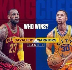 NBA Finals Game 6: #Cavs or #Warriors?   #ThisIsWhyWePlay
