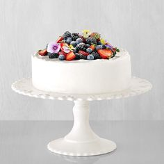 In this beautiful and simple Chantilly cake recipe, fresh berries are layered with whipped cream and delicate sponge cake for a special sweet that's as well suited for a bridal shower as it is for a birthday or graduation party or other special occasion. Fill and top with any combination of fresh berries.