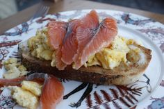 Cured salmon and scrambled eggs #seafood #seafoodrecipe #foodblogger
