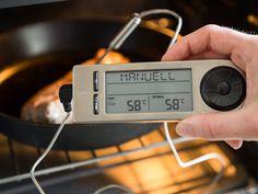 Damit dein Schweinefilet wirklich rosa auf dem Teller landet, sollte seine Kerntemperatur ca. 58 °C betragen.