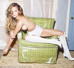 Raunchy: Chrissy Teigen posed topless for W Magazine after being named of the 10 sexiest s...