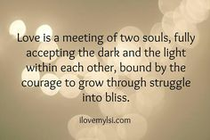 Meeting of two souls...
