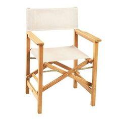 Hiteak Furniture Indoor/Outdoor Teak Directors Folding Chair Hlac464