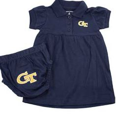 Georgia Tech Polo Dress with Embroidered Bloomers