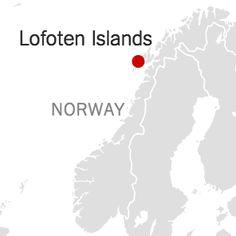 Map of Lofoten Islands, Norway