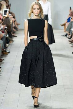 All in black in Michael Kors's SS 2014 NY show