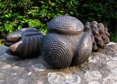 The Towie Ball and other carved stone objects - Historically fired ceramic replicas of neolithic stone objects from Scotland. via Etsy. by EarthenMe