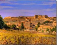 Urueña medieval walls (XII cent.) and the Anunciada chapel, Valladolid - Spain