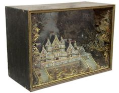 Gothic Jewelry Box Diy Victorian English Gothic Diorama attributed to Charles Grant, c. Mansion of Lord Cavendish: - Paper Art, Paper Crafts, Diy Crafts, Shadow Box Art, Toy Theatre, Gothic Jewelry, Luxury Jewelry, Assemblage Art, Scrapbook