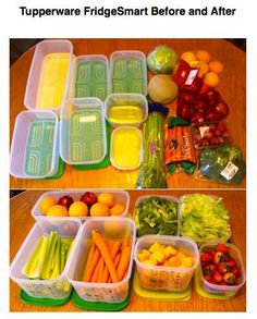 With Tupperware you can organize your refrigerator and make your fruits and vegetables last 2-3 times longer!!