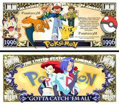 Pokemon Dollar Bill (2 Bills)