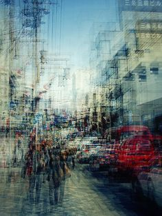 Double exposure photograph of a street in Nara, Japan by Stephanie Jung