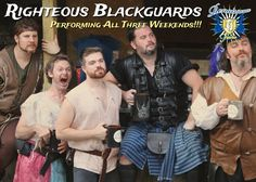 The New Jersey Renaissance Faire is about to GET RIGHTEOUS!!! For ALL THREE WEEKENDS, we are going to have the Righteous Blackguards performing on our stages! Join Percy Thrillington, Brodie MacManley, Rowan the Bard of the Greenwood, Didier Beauregard, and Charles Dubious (Mad Tom will be in detention) as they perform their special blend of Celtic folk, bawdy humor, and drinking songs as only the Blackguards can! Get your tickets and more info at www.njrenfaire.com!