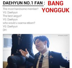 Daehyun no.1 fan: Bang Yongguk | Is this why they are awkward with eachother?? Lol B.A.P