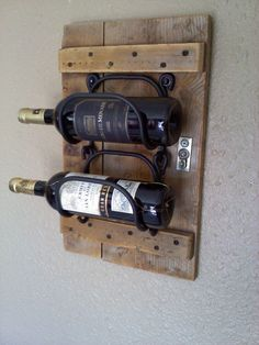 Hanging Wooden Wine Rack in vintage wood
