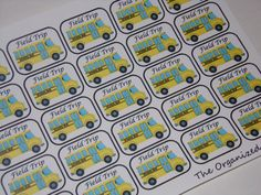 25 Field Trip Stickers / Bus Stickers / School Stickers for your Erin Condren Life Planner by TheOrganizedPlanner on Etsy