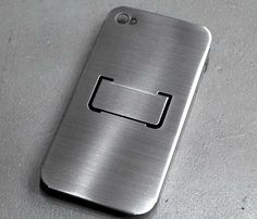 Flap iPhone Case in metallic. Open the little hatch and you have a stand.