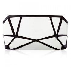 Stylish Geometric Print and Color Block Design Women's Clutch Bag (€16) ❤ liked on Polyvore featuring bags, handbags, clutches, color block handbag, white handbags, white clutches, colorblock handbags and color block purse