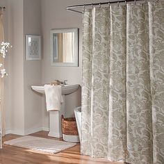 Adorned With A Sophisticated Floral Motif The Mstyle Valencia Shower Curtain Brings Sophistication