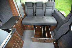 64 Super Ideas for volkswagen campers van interior galleries Vw T5 Interior, Campervan Interior, Camper Caravan, Camper Van, Camper Life, Vw Transporter T4, Vw Camper Conversions, Vw Touran, Vw Lt