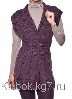 Ажурная фиолетовая туника | Клубок