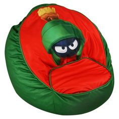 Magical Harmony Marvin The Martian Bean Chair : Target Mobile Office Chair Mat, Best Office Chair, Toddler Bean Bag Chair, Cool Bean Bags, Spa Pedicure Chairs, Bean Chair, Lounge Chair Cushions, Marvin The Martian, Kids Bedroom Furniture