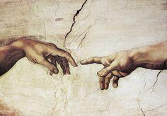 Reprodukce - Renesance - Creazione di Adamo, Michelangelo ...