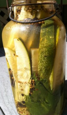 Quick and Garlicky Refrigerator Pickles