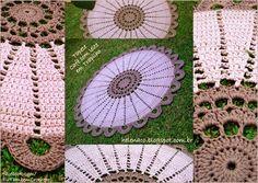 EU TAMBÉM CROCHETO...: Tapete Café com Leite em Trapilho - Café au lait coloured crochet rug with diagram.