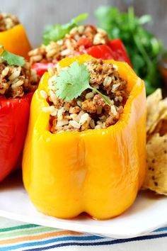 Clean Eating Stuffed Peppers