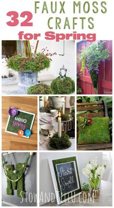 31 DIY Faux Moss Crafts To Celebrate Spring in Style Spring Home Decor, Diy Home Decor, Moss Table Runner, Moss Paint, Cool Succulents, Indoor Plant Wall, Craft Projects For Adults, Garden Wall Art, Framed Chalkboard