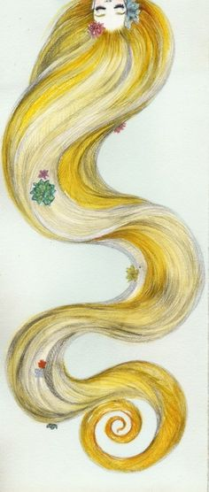 LaLe wants to grow he hair long like Repunzel's so she can wrap it around a tree swing from tree to tree. heehee =)