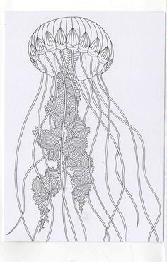 Millie Marottau0027s Colouring In Card   Jelly Fish