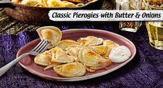 Sautéed onions and creamy butter give these pierogies their savory flavor.