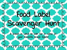 A FREEBIE for your students to explore the nutrition and ingredients inside some of their favorite snacks!