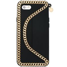 Stella McCartney 'Falabella' iPhone 6 case ($135) ❤ liked on Polyvore featuring accessories, tech accessories, black, home and stella mccartney