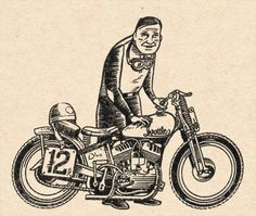 #illustration #motorcycles by Adam Nickel | caferacerpasion.com