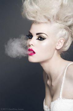 Beauty Photography by Geoffrey Jones -- Portrait - Smoke - Platinum - Pose Beauty Shoot, Hair Beauty, Beauty Makeup, Beauty Photography, Fashion Photography, Divas, Dramatic Hair, Editorial, Glamour