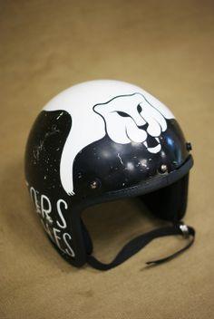 classic helmet custom panther