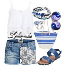 #summer outfit, see where to find items in this #outfit here: http://lolomoda.com/funny-jeans-wear-trend-2014/