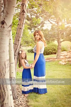 mommy and me lace maxi dresses