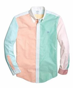 Brooks Brothers Supima Cotton Non-Iron Slim Fit Oxford Fun Sport Shirt