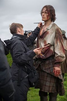 Outlander season 3 starts shooting with Sam Heughan and Caitriona Balfe.