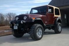 1976 CJ7:   My CJ7 came to Missouri via Arizona. It has a modified 258 with headers and dual exhaust; an  on-board air compressor, 4 speed manual, 8000# winch, completely